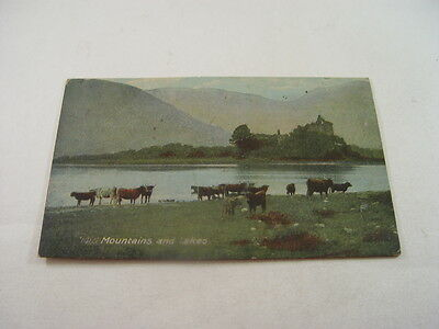 OTH176 - Postcard - Mountains and Lakes 1923