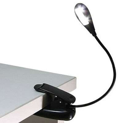 USB 2 LED Buchlampe Flexible Leselampe Klemmleuchte Tageslichtweiß Clip Lamp