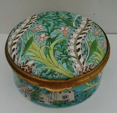 Authentic The William Morris Collection Staffordshire Enamelled Trinket Box