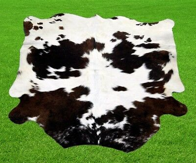 "New Calfhide Rugs Area Cow Skin Leather 8.48 sq.feet (37""x33"") Calf hide MB-188"