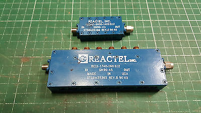 2 X Reactel Inc Passive Rf Filter  4.7 - 6.0 Ghz
