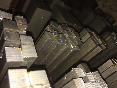 Bright Mild Steel Square Bar Rod Billet - 6mm to 50mm Square - Various Lengths
