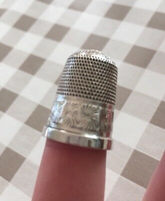 Sterling Silver Antique Thimble Approx 1910
