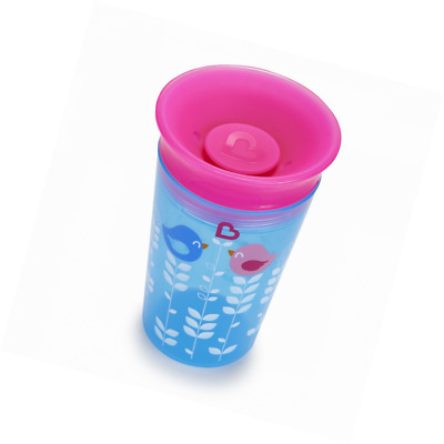 Munchkin Miracle 360 Degrees Deco Sippy Cup, 9 oz/266 ml, Blue Bird