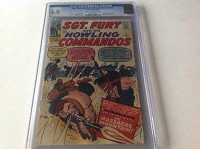 Sgt Fury And His Howling Commandos 3 Cgc 6.0 Reed Richards Full Pg Ad Avengers 1