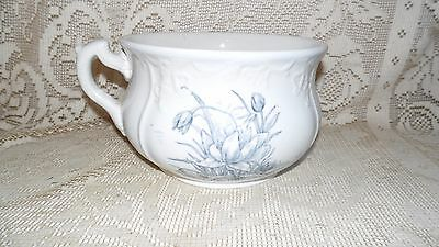 Ant. Royal Ironstone China Johnson Bros England Chamber Pot Blue Floral Design