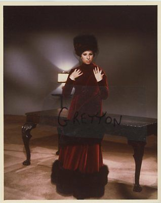 Gorgeous Barbra Streisand Rare Studio Portrait  Colour Print 2