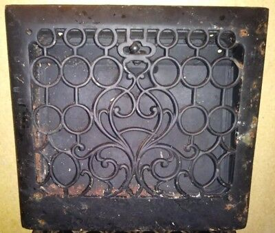 cast iron antique victorian style heat vent grate. 14 1/2in x 13 1/4in