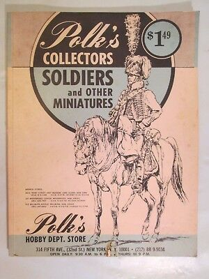 Vintage Polk's Hobby Dept Store Collectors Soldiers & Other Miniatures Catalog