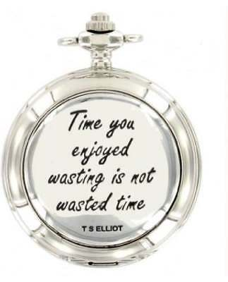 Woodford T.s. Elliot Chrome/pewter Mechanical Double Hunter Pocket Watch