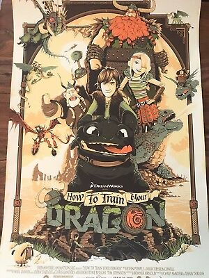 How to Train Your Dragon by Patrick Connan This is Berk Poster Print