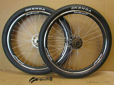 "27.5"" 650b MTB Mountain Bike Rim/Disc Brake Wheel Set 27.5x2.1 Tyre 6/7/8 Speed"