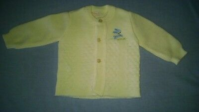 Vintage Baby/Infant Sweater Yellow/Blue Bunny