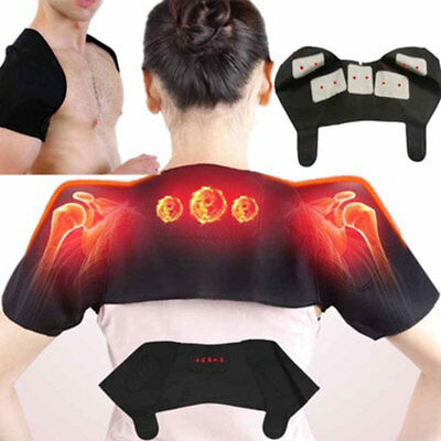 Durable Shoulder Protector Heat Therapy Pad Electric Belt Black Support Muscle