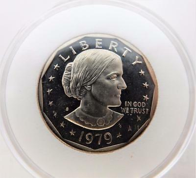 RARE 1979-S Type 2, Susan B. Anthony, Proof Dollar Coin, in Capsule,   #C2