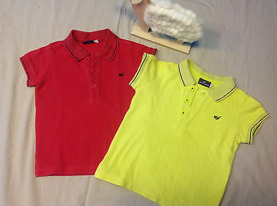 lot 2 polos T shirt bébé 24 mois 2 ans SERGENT MAJOR jaune fushia
