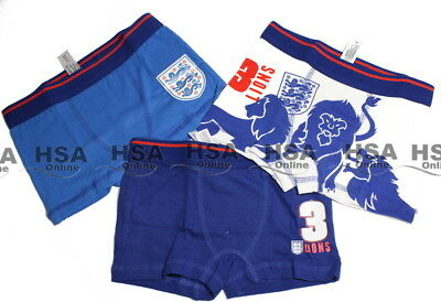 Boys 3 Pack Boxers Pants Kids Cotton Rich Underwear 3 PACK Brief Shorts Age 3-4