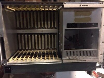 Motorola VME 12  slot Chassis w PS & rear backplane cards