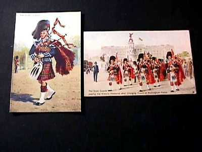 The Scots Guards Piper & Changing Of The Guard At Buckingham Palace Postcards