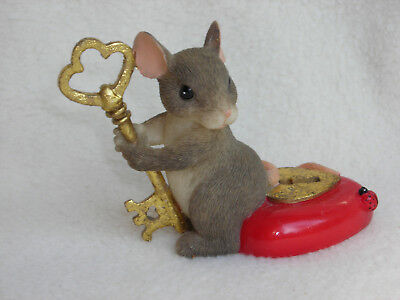"""Charming Tails """"You Hold The Key To My Heart"""" Club Member Edition 2000"""