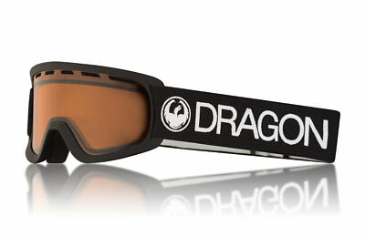 ede0be2653f7 NEW Dragon Alliance LiL D Black Snow Goggles with LumaLens Amber Finish