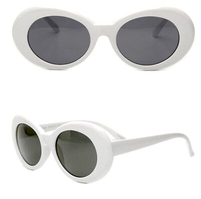 White Clout Goggles Glasses Vintage Classic Kurt Cobain Sunglass Oval Hypebeast