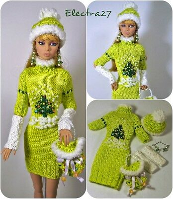 OOAK Outfit for Poppy Parker FR2 Color Infusion Nu Face Barbie & doll 12""