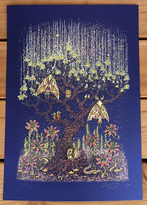 Marq Spusta Luminous Life Dark Blue Limited Edition Screen Print Signed Numbered
