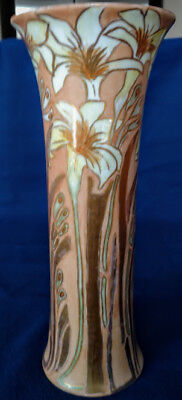 "Heinrich & Co Bavarian Antique Hand Painted Porcelain Vase 1916 11.5"" Mark & Sig"