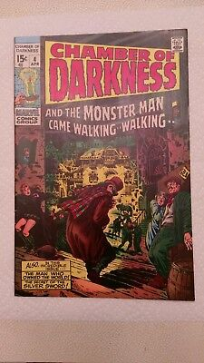 Chamber of Darkness #4 (Apr 1970, Marvel) NM- (9.2) REDUCED *BEAUTIFUL BOOK*