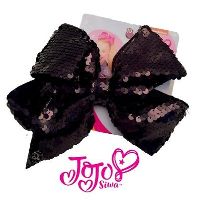 JOJO Siwa Bows 🎀 Signature Collection, LARGE Black Sequin, Cheer Bows