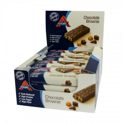 Atkins Advantage Proteinriegel 16x60g Box Chocolate Brownie [MHD12/17]ci