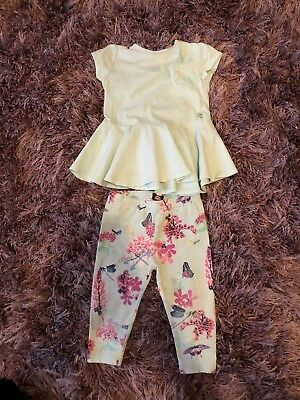 Ted Baker Girls 6-9 Months Top And Leggings