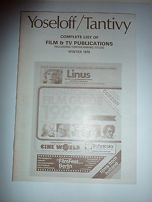 Yoseloff/ Tantivy complete list of Film/TV publications Winter 1979