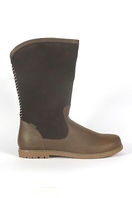 Pediped Jasmine chocolate brown suede and leather girl's winter boot