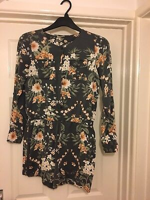 Next Girls Floral Play suit Age 12-13