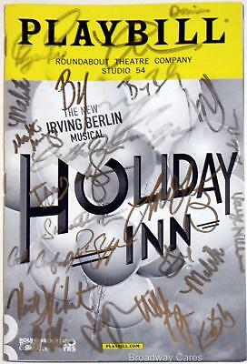 HOLIDAY INN Cast Lora Lee Gayer, Bryce Pinkham Signed Opening Night Playbill