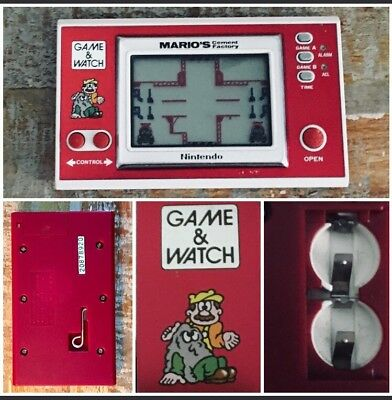 NINTENDO GAME WATCH MARIO's CEMENT FACTORY ML-102 1983  LCD EXCELLENT CONDITION