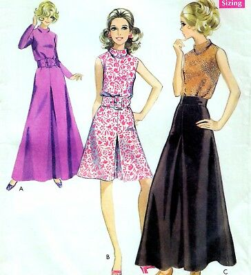 """Vintage 60s does 30s PALAZZO PANTS & TOP Sewing Pattern BUST 31.5"""" Sz 6 Evening"""