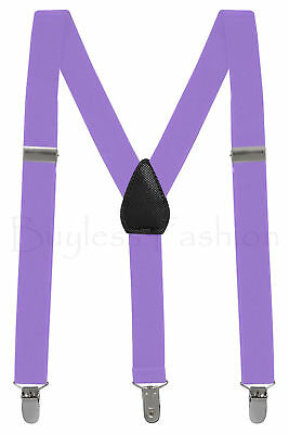 Buyless Kids and Baby Elastic Adjustable 1 inch Suspenders - Black - Size 26 ...
