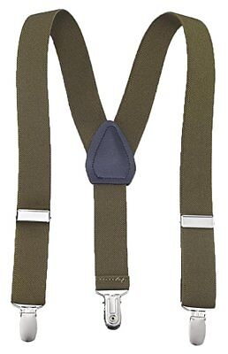 Buyless Kids and Baby Elastic Adjustable 1 inch Suspenders - Olive - Size 22 ...