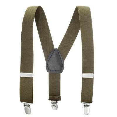 Buyless Kids and Baby Elastic Adjustable 1 inch Suspenders - Olive - Size 30 ...