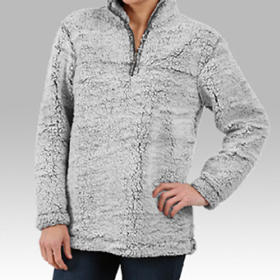 BoxerCraft Smoky Grey Sherpa Ladies Pullover-Brand New-Size-Size-Large-Two Toned