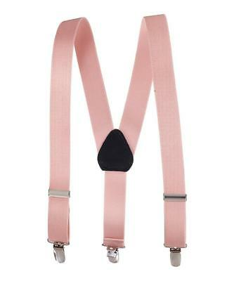 Buyless Kids and Baby Elastic Adjustable 1 inch Suspenders - Peach - Size 30 ...