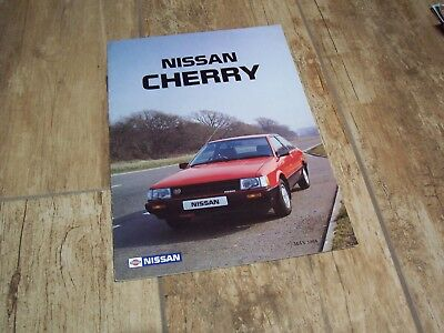 Catalogue  / Brochure NISSAN Cherry (incl: Cherry GTI) 1984 //
