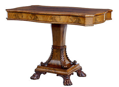 Mid 19Th Century Swedish Flame Mahogany Center Table
