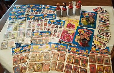 HUGE original Garbage Pail Kids collection lot Set with unopened sticker Buttons