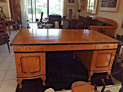Antique Biedermeier  Style Masur Ebonized Partners' Desk Circa 1910