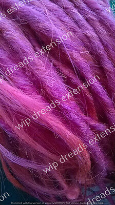 DREADS EXTENSION , CYBER DREADS  single ended 5 fuxia
