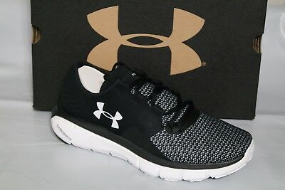 UNDER ARMOUR UA SpeedForm FORTIS 2 WOMENS RUNNING SHOES, BLACK/WHITE 1273954-001